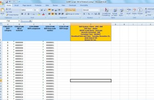 Query SAP Bill of Material BOM Lookup Results