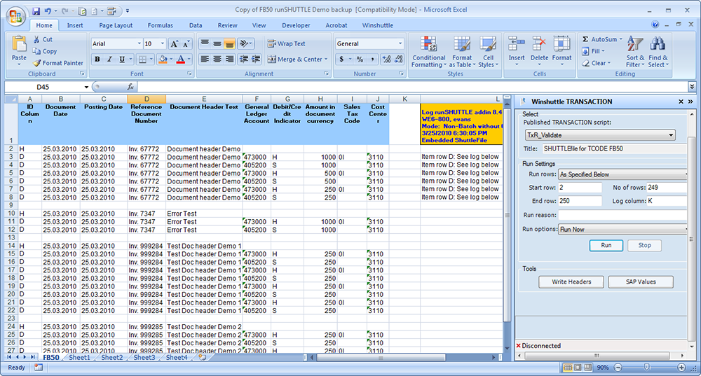 winshuttle for sap general ledger postings winshuttle
