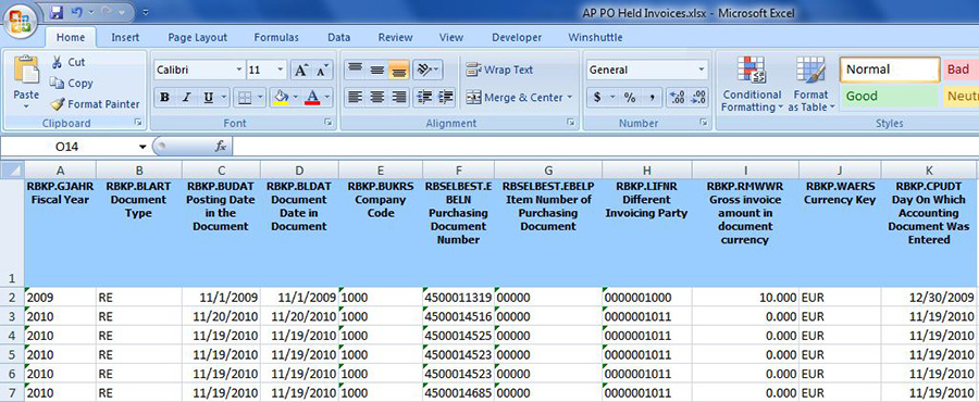 Sap Purchase Order Lookup Efficiency  Winshuttle Software