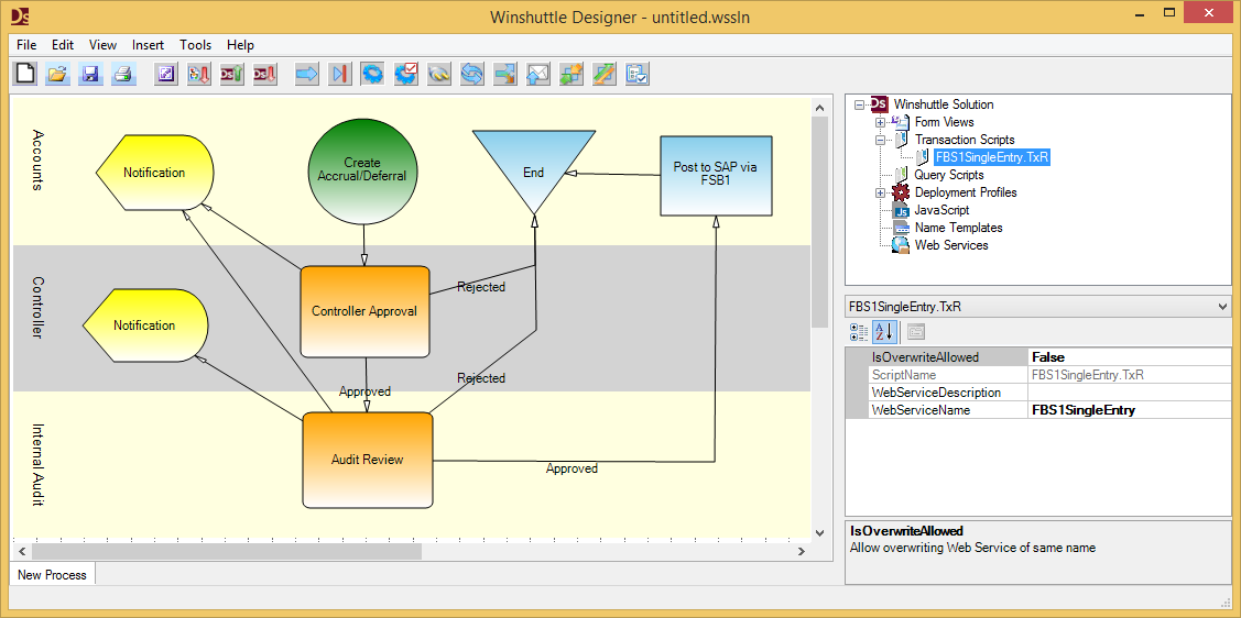 Winshuttle Foundation Workflow with FBS1 Script