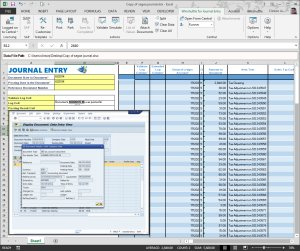 Manual Journal Posting with Winshuttle